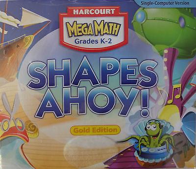 Harcourt Mega Math Grades K-2 Shapes Ahoy Gold Edition Cd-rom