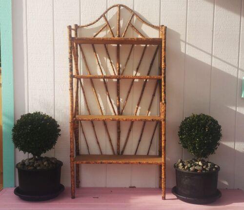 ENGLISH GARDEN antique bamboo furniture plant stand art book shelf vtg seattle