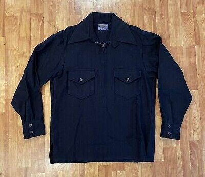 1970s Men's Shirt Styles – Vintage 70s Shirts for Guys Vintage 1970's Pendleton Virgin Wool Field Shirt Half Zip USA Men's Size Medium $49.99 AT vintagedancer.com