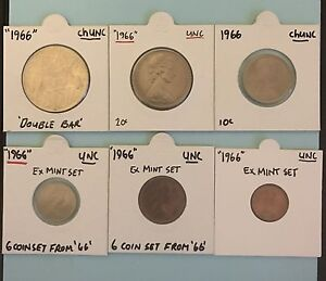 1966 decimal mint set all good UNC coins. Double bar 50c may trade Cooks Hill Newcastle Area Preview