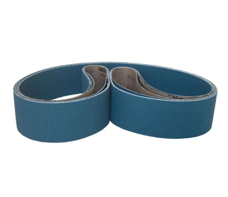 2-1/4-Inch x 80-Inch, Zirconia Abrasive Belt (80 Grit, 5 Pack)