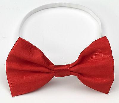 RED BOWTIE ELASTIC STRAP Clown Bow Tie Male Stripper Dancer Mime Tuxedo Funny ](Male Stripper Tuxedo)