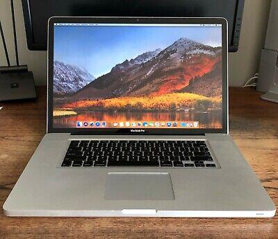 """Apple MacBook Pro 17"""" A1297 Laptop i5 2.53 8GB ram 1TB SSD Mid-2010"""