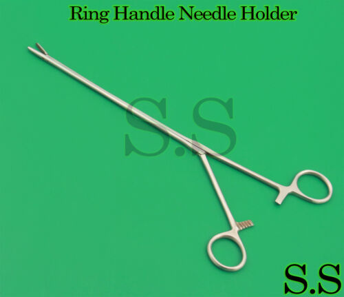 Ring Handle Needle Holders 11 1/2 Straight jaws With ratchet