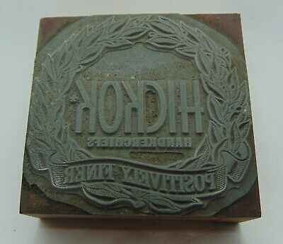 Vintage Printing Letterpress Printers Block Hickok Handkerchiefs Positively Fine