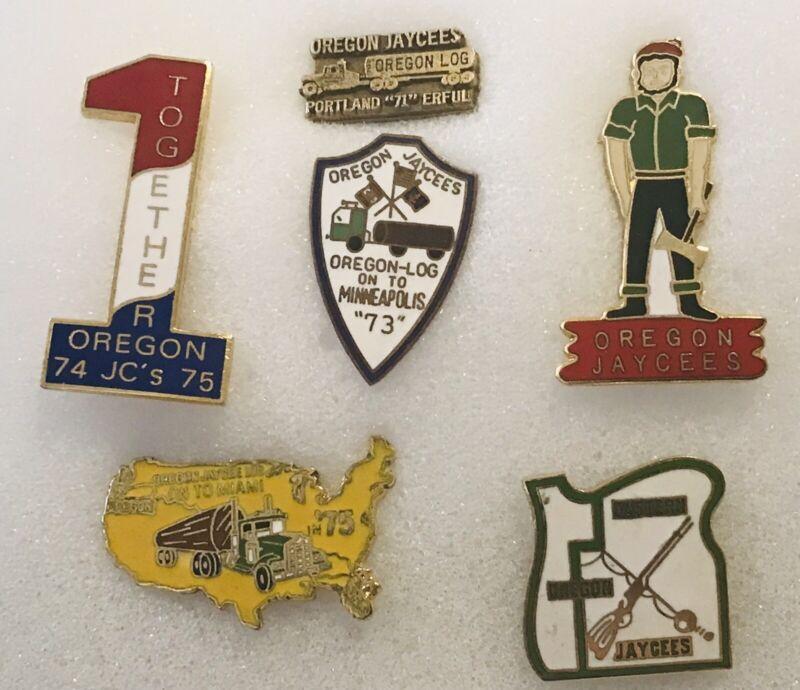 Oregon Jaycees Portland Minneapolis Miami Beach Logger  #1  District Pins