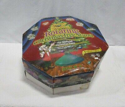 WORKING 1996 E.Z. ROTATING CHRISTMAS TREE STAND MODEL 111 IN ORIGINAL BOX(loc 1)