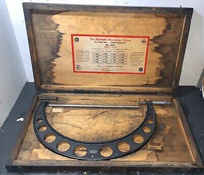 Starrett - Model No. 436 13-14 Micrometer Used Machinist Lathe Standard