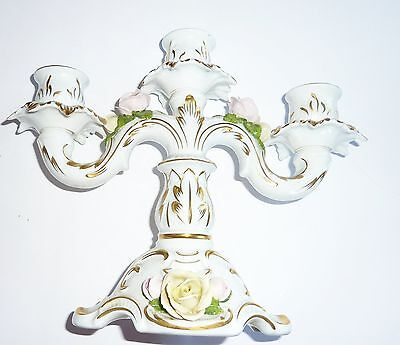 Kerzenständer Porzellan Rosen AK Kaiser Kerzenhalter Leuchter Kandelaber