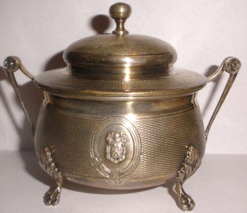 Rare Antique Edmond Tetard (French 1860-1901) 950 sterling silver sugar bowl
