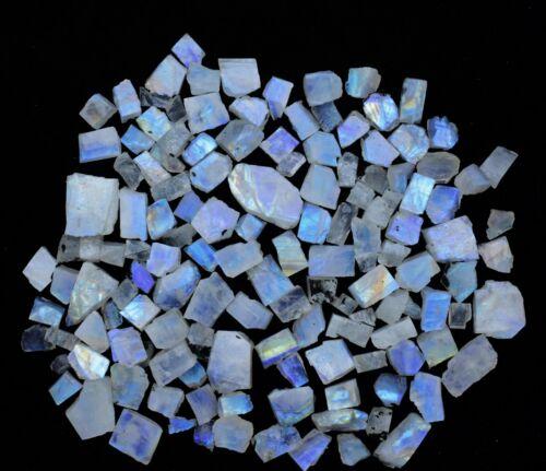 Sliced Blue Moonstone Rough Mix Gemstone For Jewelry Wholesale Lot Moonstone V56