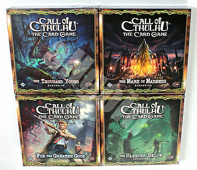 THE CALL OF CTHULHU CARD GAME LCG DELUXE EXPANSIONS Fantasy Flight NEW SEALED