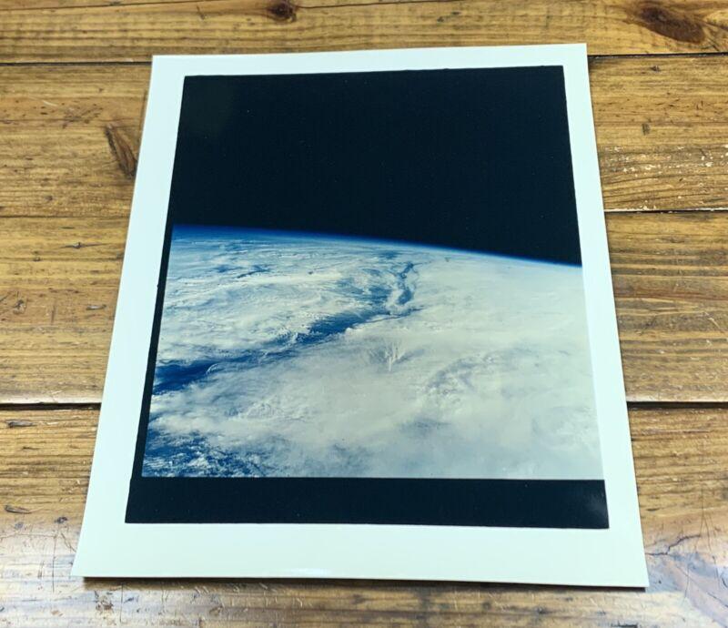 "1960s EARTH PHOTOGRAPH 11""x14"" OVERSIZE NASA ON KODAK PAPER ORIGINAL"