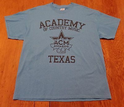 2514 10 Academy Of Country Music Awards 50 Years Texas New Graphic T Shirt Xl