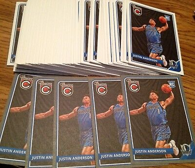 Justin Anderson 2015 16 Rookie Investment Lot  59  Complete   Silver Parallel Rc