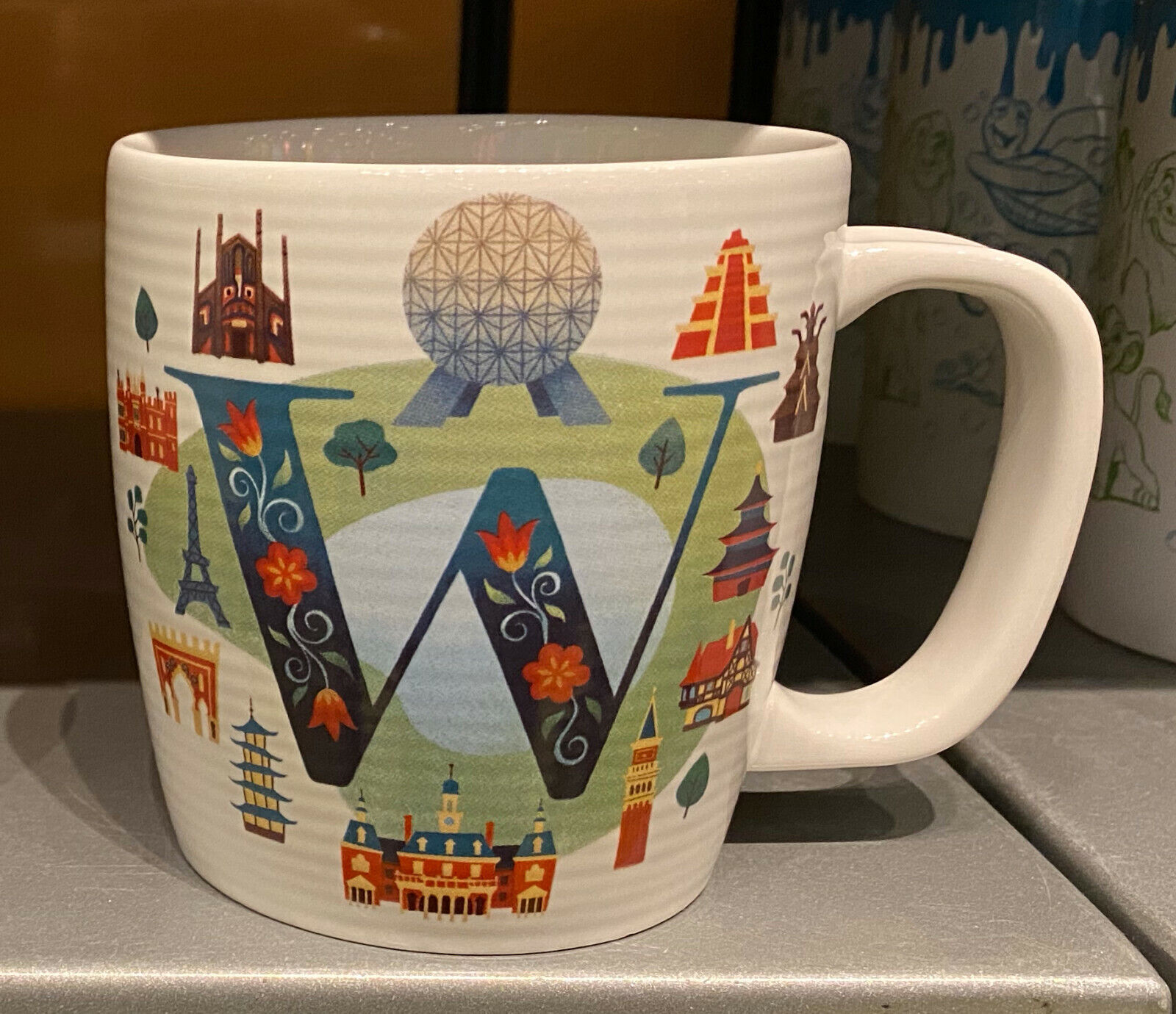 Disney'Parks W is for Epcot World Showcase ABC Ceramic Mug