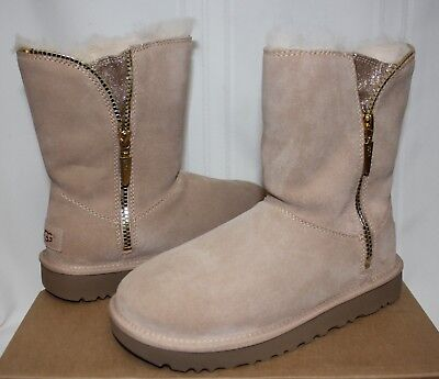 UGG Women's Marice Driftwood Sand Suede zipper boots New With - Ugg With Zipper