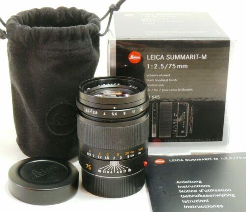 Leica 75mm f/2.5 Summarit-M 6-bit coded lens 11645, boxed MINT #38145