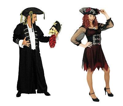 PIRAT Piratin Damen Herren Partner Paar Kostüm Kleid Mantel Piraten Hut Gothic  ()