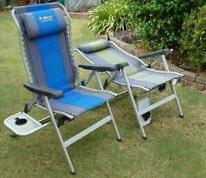 Recliner Camp Chair Oztrail Cascade Deluxe 8 Position