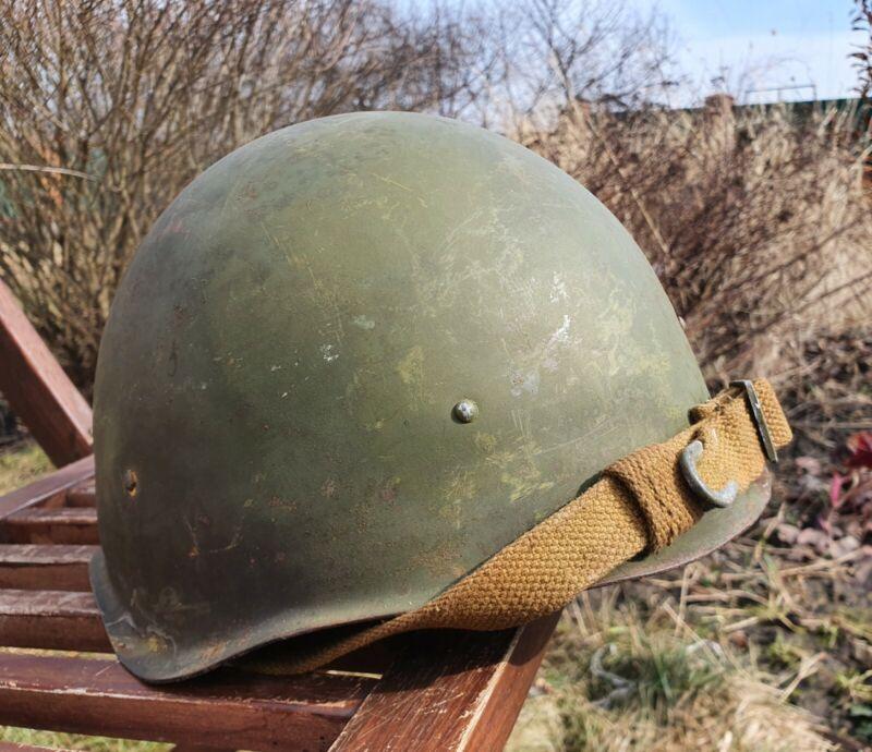 Original Military Helmet SSh 40 Steel WW2 Soviet Army RKKA WWII Russian Size 2