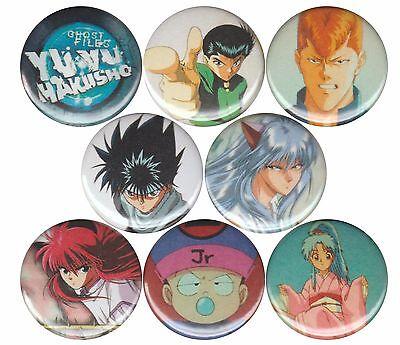 Yu Yu Hakusho set of 8 pins badges Yusuke Hiei Yoko Kurama Boton Kuwabara Anime