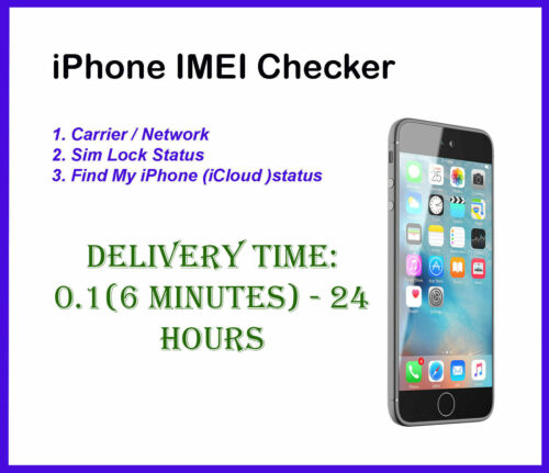 Fast iPhone IMEI Checker Carrier  & Network Check Sim Lock Status Find My iPhone
