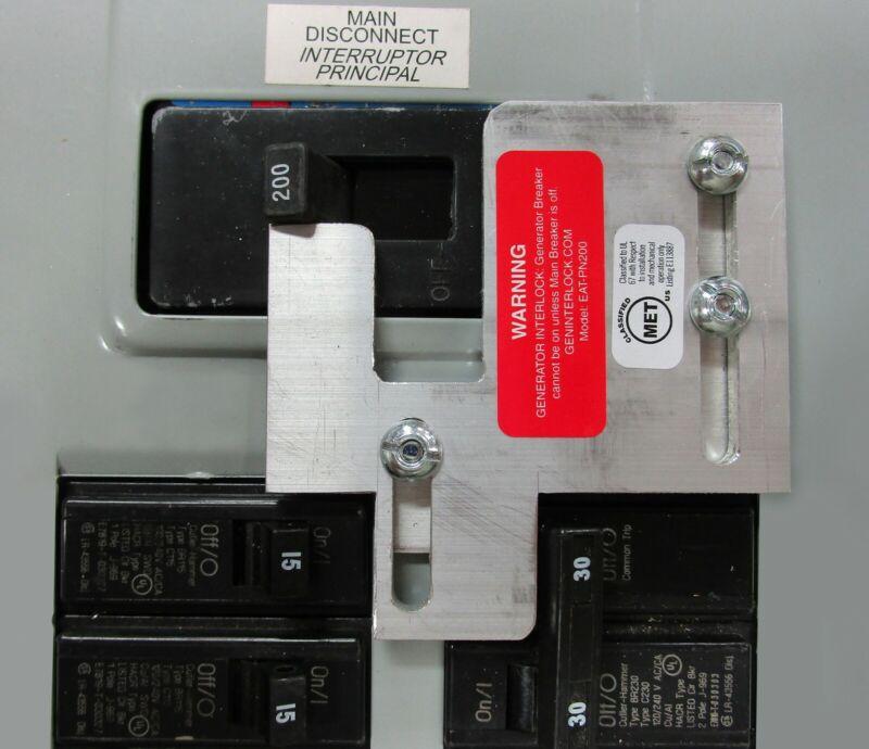 EAT-PN200 Generator interlock Cutler Hammer or Challenger 150 & 200A BR Series