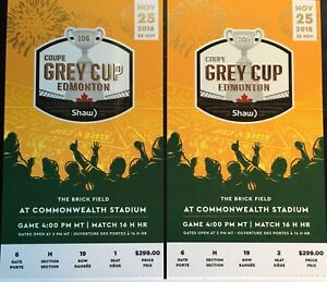 Grey cup gold seat tickets!!