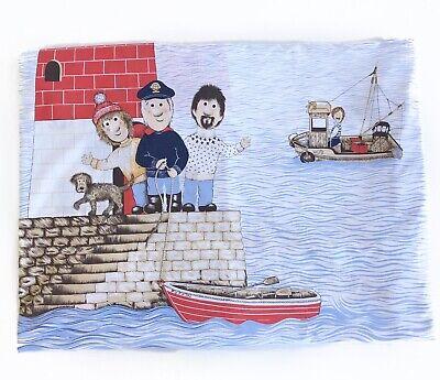 Vintage Horrockses Kids Lighthouse Sailors Nautical Single Duvet Cover 52x77