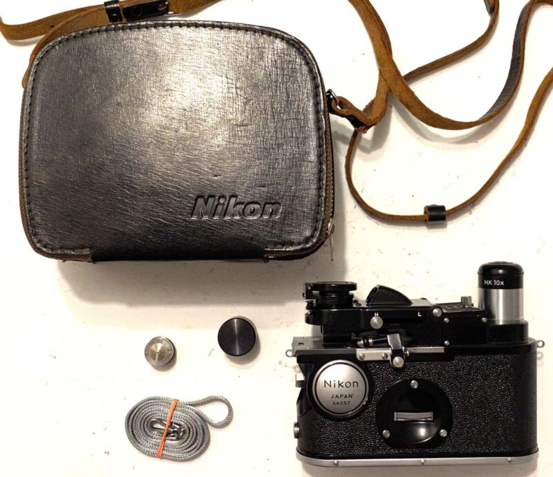 Nikon H Field Microscope exceptional condition extra objective strap and case