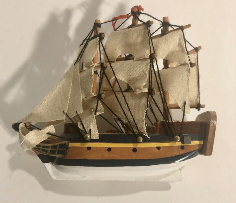 Sail Boat Ship Christmas Tree  Holiday Ornament BRS