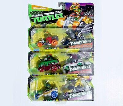 TMNT - Teenage Mutant Ninja Turtles T-Machines Lot - Raph Mikey Leo Don & More!