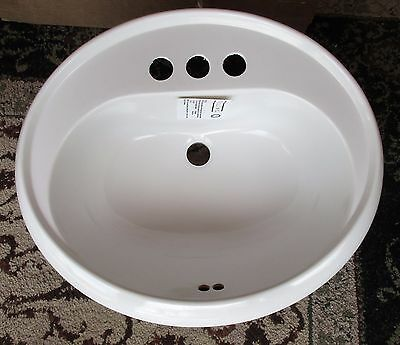 Oval Top Mount - Sterling Oval Bathroom Lavatory Sink 65010140 Vikrell White 20