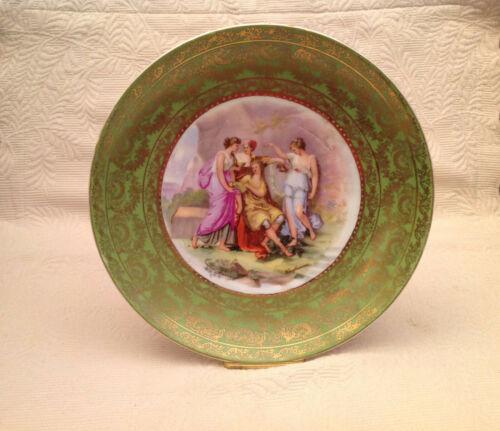 "Cabinet Plate Royal Vienna Austria Carlsbad - Artist Karl Kaufmann 10"""