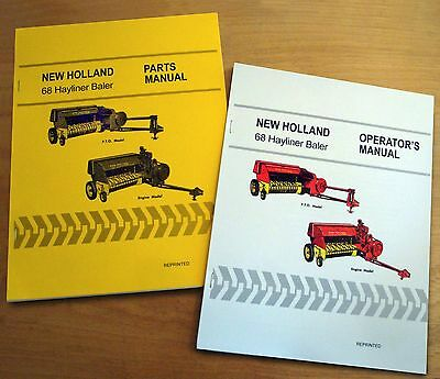 New Holland 68 Hayliner Baler Operators And Parts Manual Catalog Book Nh