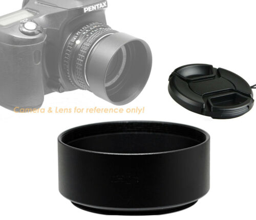 58mm Threaded Metal Screw in Hood Shade with Front Cap for Canon Panasonic Sony