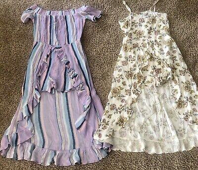 Girls Art Class Lot Of 2 Skirted Romper Dresses Size 10/12 EUC