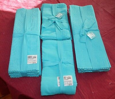 Cloth Dinner Napkin And Place Mat Set Of 4 Each  Solid Turquoise Color by TAG co
