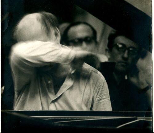 Russian 1980s Sviatoslav Richter Great Pianist, Big Real Photo USSR rare