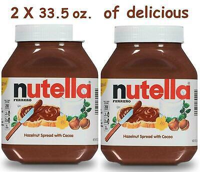 - Ferrero Nutella Hazelnut Spread W/Cocoa (33.5 oz X 2 count) Vegetarian, Kosher