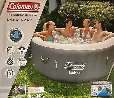 """New Coleman SaluSpa 4-6 Person Portable Inflatable Outdoor Hot Tub Spa 71"""" x 28"""