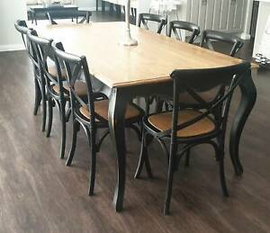 Early Settler Provincial Oak Dining Table & Chairs ...