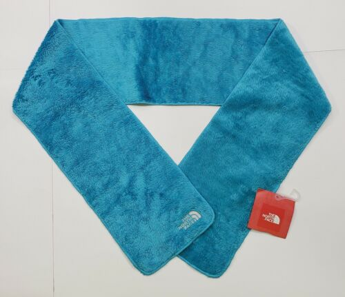 New tag Girls The North Face Turquoise Blue Denali Thermal Fleece Scarf 1 Size