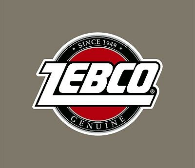 Zebco decals stickers bass boat tournament sponsor fishing rod reel