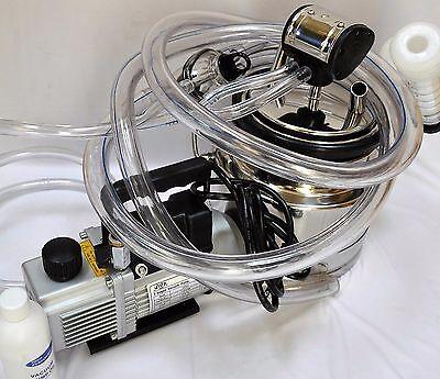 Simple Complete Goat Bucket Milker Machine:6cfm Vacuum Pump 5L Pail Pulsator+New