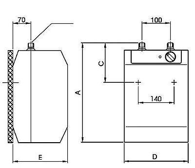 evenes hot water tank 5 liter untertisch boiler teg 5 u. Black Bedroom Furniture Sets. Home Design Ideas