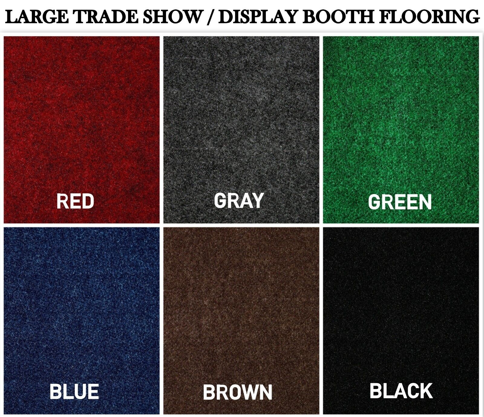 Large Custom Cut-to-Fit Trade-Show Area Rug Carpets.