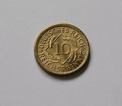 WEIMAR: 10 Reichspfennig 1925 F, J. 317, prägefrisch/unc. !!!