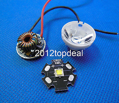 Cree Xml-t6 White Color 10w Dimmable Driver 5 Mode For Dc 3.7v15vlens